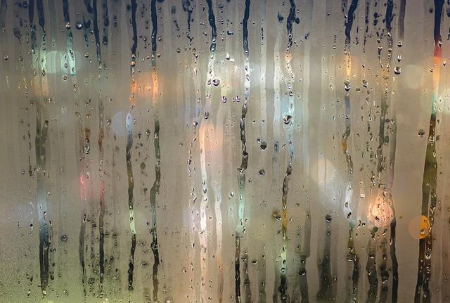 mokré okna