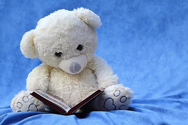 sedící medvídek s knihou