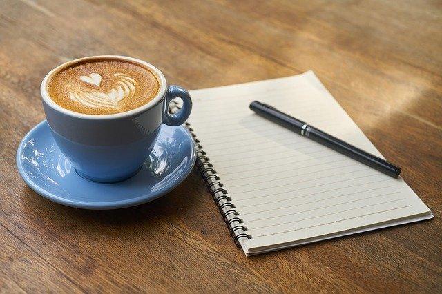 káva a notes