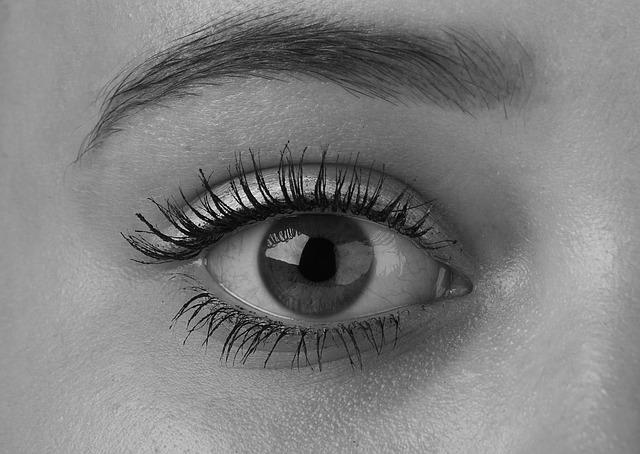 černobílé oko