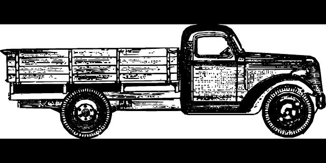 starý nákladní vůz
